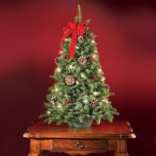 luxury table top tree enchanting 3 5 ft prelit flocked