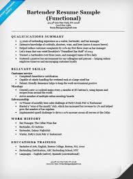 bartending resume template gallery of free functional resume template