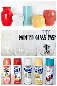 diy painted glass vase painted glass vases cabin and creative
