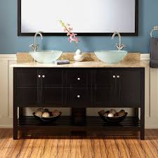 black vessel sink faucet 60 everett vessel sink console vanity black bathroom