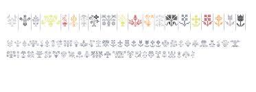 swiss folk ornaments floral fonts