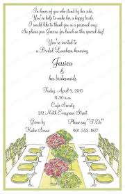 bridal lunch invitations 10 bridal luncheon invitations with envelopes free return address