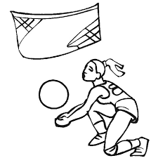 catch volleyball coloring download
