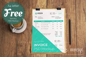 free invoice psd mockup template mocup psd mockups stock