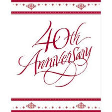 what is 40th wedding anniversary 40th wedding anniversary clip clipart free clipart