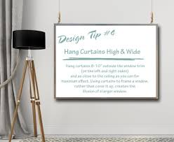 design tips u0026 tricks 4 how to hang curtains a space to call home