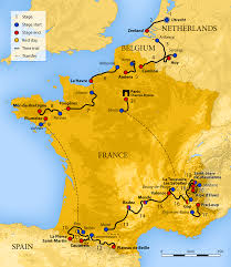 Spain France Map by 2015 Tour De France Wikipedia