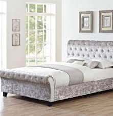 Velvet Bed Frame Chester Crushed Velvet Bed Bed Frames Cheap Beds Ireland