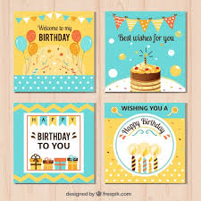 pretty happy birthday cards vector free