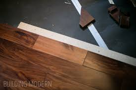 hardwood floor installation for the kitchen foyer