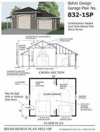 Garage Amazing Garage Plans Design Garage Plan With by 2 Car Garage With Shop Plans 864 4 By Behm Design Garage Plans