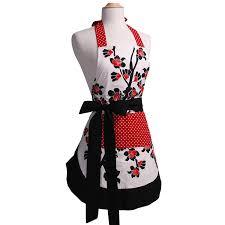 Customized Aprons For Women Amazon Com Flirty Aprons Women U0027s Original Apron Cherry Blossom