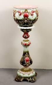 austrian vases antique julius dressler austrian majolica jardiniere and pedestal
