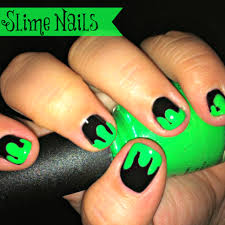 halloween slime nails totally the bomb com
