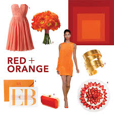 red orange wedding color palette fall colors orange