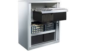 Office Storage Cabinets With Sliding Doors Tambour Sliding Door Storage Cabinet Metal Silver Office