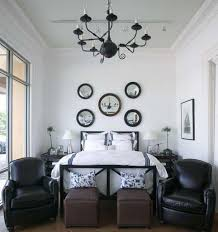 Small Black Chandelier Small Bedroom Remodeling Ideas With Leather Armchairs And Rustic