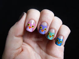 10 owl nail design picture polish swatches owl nail art feat