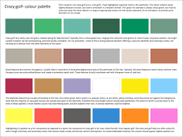 Colors That Look Good With Green Michael U0027s Animation Blog Crazy Golf Colour Palette