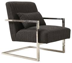 Modern Accent Chair Skyline Modern Chenille And Gold Metal Accent Chair Contemporary