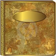 gold photo album leaf album cover