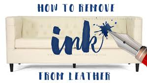 Pen On Leather Sofa How To Remove Ink From Leather No Scrubbing Needed