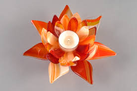 light u0026 dark orange fusers reserve open lotus candle holder