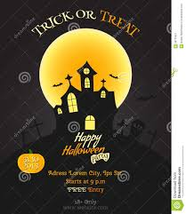 happy halloween party poster flyer banner stock vector image