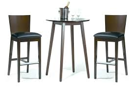 bar table chairs sets with rounded made of wood also stools faux leather combined wooden base