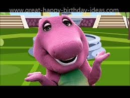 barney sings happy birthday