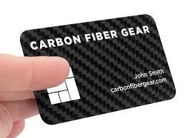 Titanium Business Cards Carbon Fiber Business Cards 100 Real Carbon Fiber Gear