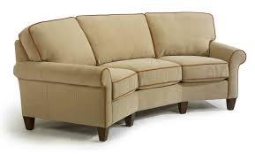 Conversation Settee Living Room Ethan Allen Bennett Sofa Plus Pottery Barn Leather