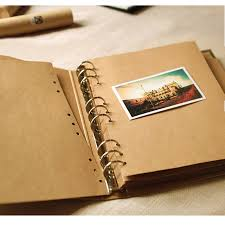 photo albums with sticky pages 21 5 28 3 5cm vertical 9 holes wire binding sticky type