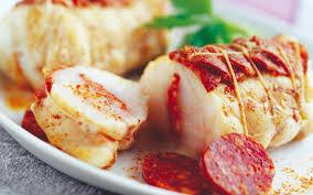 cuisiner queue de lotte mini rôti de lotte au chorizo recette plat moyen bridelice