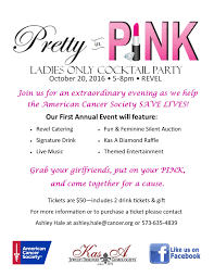 pretty in pink ladies cocktail party jefferson city