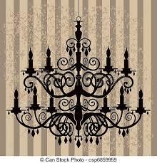 Baroque Chandelier Vintage Chandelier Vintage Baroque Chandelier Silhouette Eps