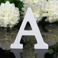 Home Decor Letters Of Alphabet Wooden White Letters Alphabet Numbers A Z 0 9 8cmx1 2cm For