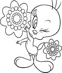 tweety beautiful coloring page wecoloringpage