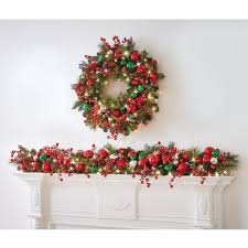the cordless prelit classic jolly trim garland