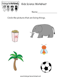kids science worksheet free kindergarten learning worksheet for kids