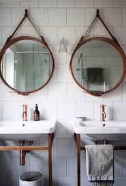 bathroom round mirror bathrooms design rustichroom mirrors illuminated round mirror with