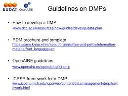eudat u0026 openaire webinar how to write a data management plan july u2026
