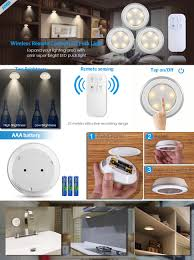 under cabinet touch lighting amir wireless led puck light 3 pack with remote control under