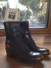 s lace up boots size 9 frye s sabrina 6g lace up booties size 9 black leather 77660
