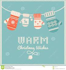 warmest wishes photo card woolen mittens with warm christmas wishes sign christmas card or