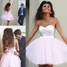 light pink short dress cheap sale short prom dresses sweetheart top sequins tulle light