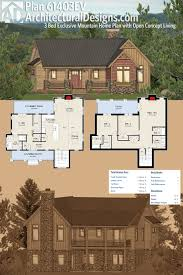 plan 61403ev three bed exclusive mountain home plan with open
