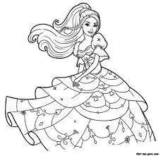 coloring pages barbie pictures color theotix