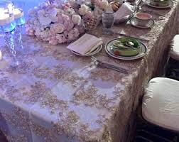 silver tablecloth etsy
