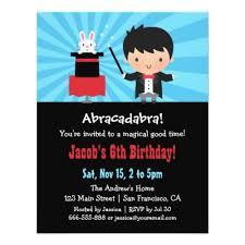 cute magic hat bunny birthday party invitations zazzle com
